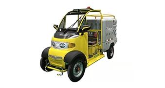 蘇州四輪高壓清洗車黃色